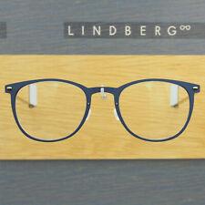LINDBERG NOW 6529 49 D18 MATTE BLUE ROUND EYEGLASSES SPECTACLE FRAMES DENMARK