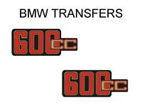 BMW Motorcycle 600cc Side Panel Transfers and Decals Sold as a Pair