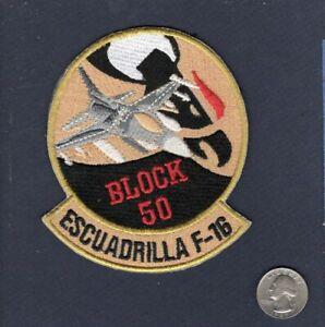 Block 50 Escuadrilla F-16 FIGHTING FALCON Foreign Squadron Patch
