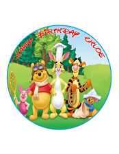 WINNIE THE POOH AND FRIENDS Image Personalized Birthday Decoration Party Topper