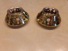 Partylite Brass Bouquet Votive or Tealight Holders Pair (2)