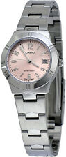 Casio LTP1241D-4A3 Women's Metal Fashion with Date Peach Dial Analog Watch
