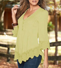 Plus Size S-4XL Women Long Sleeve Casual Shirts Tank Loose Ladies Blouse Tops