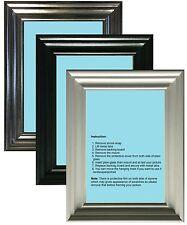 Photo Frame Picture Frame Poster Size Frame Black White Pewter Swept Style
