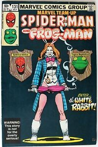 Comic Book - Marvel Team-Up Spider-Man & Frog-Man First White Rabbit - #131 1983