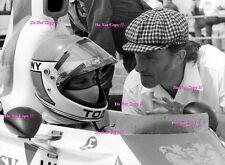 Graham Hill & Tony BRISE Ambasciata Hill British Grand Prix 1975 Fotografia