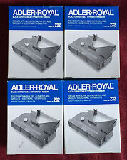 Lot of 4 Vintage Adler-Royal 232 Black Correctable Typewriter Ribbon Packs