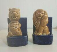 Novelty Lady & Tramp & Winnie The Pooh Ceramic R.Moss Ltd Money Box & Bookends