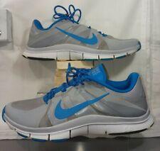 NIKE Free Trainer 5.0, 511018-042, Silver/Blue/White, Men's Size 11.5