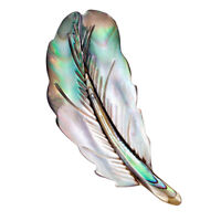 Natural Shell Feather Brooch Pin Shirt Collar Pin Banquet Women Jewelry Gifts 3C