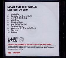 NOAH & THE WHALE Last Night On Earth HOLLAND nbr PROMO ACETATE CD ALBUM