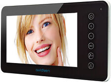 "MONITOR video NORDSTOM 2 AVIDSEN 122294 monitor 7"" per video citofono NERO"