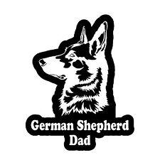 """German Shepherd Dad Decal Sticker Car Window Bumper  4"""" Inches FC3345"""