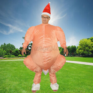 AU Cosplay Funny Inflatable Chicken Turkey Party Costume Halloween Adult Dress