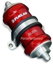 Fuelab 81802-2 Fuel Filter 10 Micron -8AN Red Made in the USA