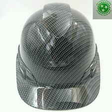 Custom pyramex (Cap Style) Hard Hat W/ratchet suspension CARBON FIBER hydro dip