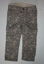 New Baby Gap Black & Tan Animal Leopard Print Jeggings Knit Pants 18-24 M NWT