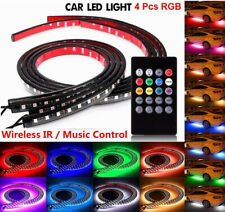 8 Color Led Strip Under Car Tube underglow Underbody System Neon Lights + Remote