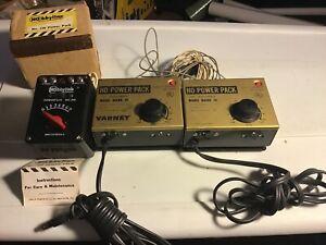 Lot Of 3 Vintage HO Power Packs, Hobbyline, Model Mark lll, Varney