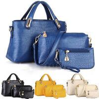 Women Casual 3PCS Handbag Shoulder Tote Purse Artificial PU Messenger Boho Bags
