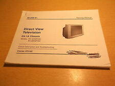 Sony Direct View Tv Dx-1A Chassis Circuit Description and Troubleshooting Dtv-02