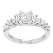 Anillos de joyería con diamantes compromiso princesa SI2