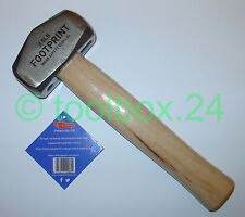 Genuine FOOTPRINT Heavy Duty Hickory Handle Club Lump Hammer 1.1kg 2.5lb