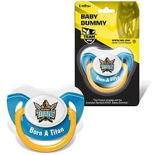 Gold Coast Titans NRL Baby Dummy Pacifier Born a Titan