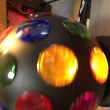 "DISCO ""BALL OF LIGHT"" --ROTATING MULTIPLE COLOR LIGHTS--------e & m"