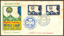 1957 Philippines GIRL SCOUT REGIONAL CENTENARY WORLD CAMP First Day Cover - B