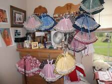 DRESS AND PINAFORE FOR DOLLS, BUNNIES, AND BEARS,MADE IN AMERICA!!
