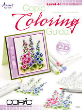 COPIC COLORING GUIDE LEVEL 4:FINE DETAILS-Marker Card Making Paper Craft Book-CD