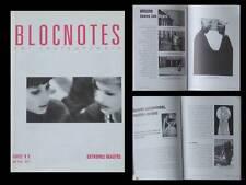 BLOCNOTES n°11 1996 -REVUE ART- DOUGLAS GORDON, ELKE KRYSTUFEK, JAMES LEE BYARS