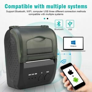 58mm Bluetooth Thermal Printer 7.4V 2000mA Battery Compatible with IOS Windows