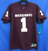 NWT GEN2 Boys Football Jersey T-Shirt UNIVERSITY OF LOUISIANA WARHAWKS #1 Wine M