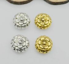 100/500PCS Tibetan Silver Glod Flower Spacer Beads For Jewelry Making 7.5x4mm