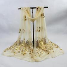 Fashion Womens Scarves Peacock Flower Scarf Long Soft Wrap Shawl Stole Pashmina