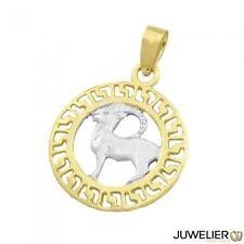 Anhänger 585 Gold bicolor Kettenanhänger Sternzeichen Steinbock