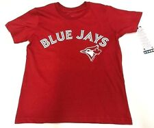 Youth Toronto Blue Jays MLB Baseball Alternate Red Round Neck T Shirt Small