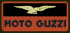 "MOTO GUZZI EMBROIDERED PATCH ~4"" x 1-3/4"" EAGLE MOTORCYCLE BORDADO AUFNÄHER V2"