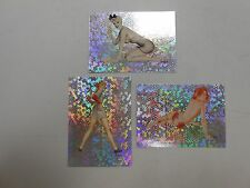 1992 Alberto Vargas Pin Up Girls parallel prism card lot of 3 #'s 28,29,30 NM/MN