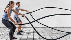 Corda Sport Fitness Allenamento Power CrossFit Battle Rope 9 metri x 38 mm