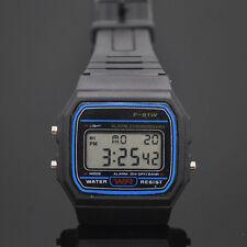 Reloj de pulsera, Digital F-91W Black, correa caucho,#888, multifuncion, Relojes