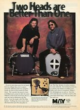 1995 Print Ad of MAY System Drum Microphone w Dave Weckl & Jim Keltner