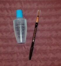 new COLLISTAR sensitive eye waterproof make up remover+black eye pencil w/brush