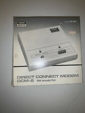 Vintage Boxed Tandy Direct Connect Modem DCM-6 with acoustic port Cat 26-1393