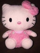 ty Plüschtier Kuscheltier Stofftier Rosa Weiß Hello Kitty Sanrio Schleife Sitzt