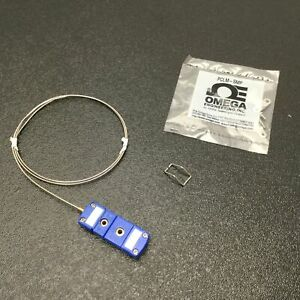 "Omega TMQIN-040U-24 T-Type Thermocouple, Diameter: 0.04"", Length: 24"" Mini Plug"