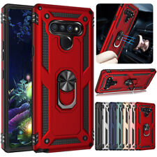 For LG K51/Q51/Stylo 6 Shockproof Heavy Duty Ring Stand Armor Hybrid Hard Case