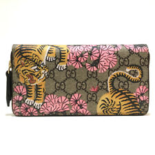 c487e2aee1bce2 AUTHENTIC GUCCI Bengal GG Supreme Zip Around Long Wallet 452355